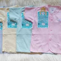 Baju Pendek Bayi 3-6m Polos Warna Libby