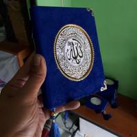 Cetak Buku Yasin Beludru 144 Hal HVS + Siku + Rumbai + Plastik