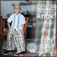 Sarung Anak Instan Celana Karakter Atlas Orange Rabbani Free Peci