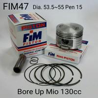 Piston kit FIM Bore Up 130cc Mio XB - FIM47