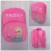 Tas Anak Tas Ransel Tas Sekolah Boneka Elsa Frozen Import Size L