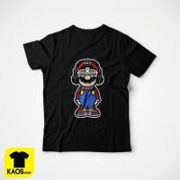T1162 Kaos Tshirt Baju Combed 30S Distro Super Mario Bros DJ Edm