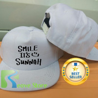 Topi Snapback Smile It Is Sunnah Trucker Baseball - Reove Store