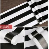 Wallpaper garis hitam putih 45cm x 10mtr ~ wallpaper sticker dinding