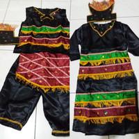 Baju adat papua TK-SD // pakaian irian satin S - M // baju papua Lk/Cw