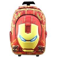 Tas Troley Sekolah SD Iron Man Kepala 3D Timbul Hard Cover