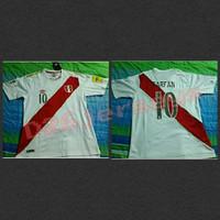 Jersey Peru home Piala Dunia World Cup 2018 + Cetak nama + Patch