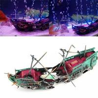 Large Aquarium Decorations Ship Shipwreck Fish Tank Decoration