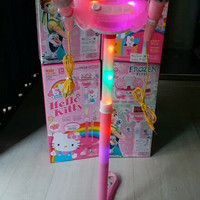 Mainan anak Microphone frozen double fever