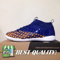 VinzoSport Sepatu Futsal Mitre Invader IN Navy Citrus Orange T0104000