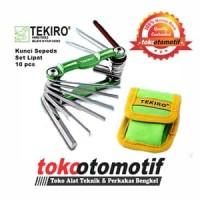 Kunci L Sepeda set Lipat 10 Pcs TEKIRO | TEKIRO