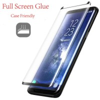 Samsung s8/s8 Plus/s9/s9 Plus Full Glue Tempered Glass Anti Gores Kaca