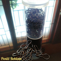 Paket Tube Peniti Bohlam isi 150pc - Black Nickel