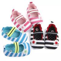 sepatu prewalker bayi anak perempuan model garis2