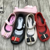 Jelly Shoes Premium Kids Twin Bow - Sepatu bayi anak karet pesta murah