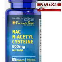 PURITAN ' S PRIDE N Acetyl Cysteine ( NAC ) 600 mg 60 CAPS