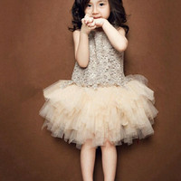Tutu dress baju pesta anak baju import baju anak korea
