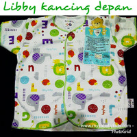 Libby Baju Bayi Lengan Pendek Size S,M,L Laki Perempuan Baby Boy Girl