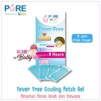 Pure Kids Fever Free Cooling Patch Gel Kompres Panas Anak (4 Lembar)