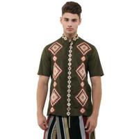 Sale Baju Koko Preview By Itang Yunasz Army Motif Segiempat