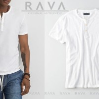 Baju Kaos Pria Henley Oblong Original by RAVA (PROMO BEST SELLER) - Pu