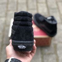 VANS SK8 HIGH ALL BLACK PREMIUM DT BNIB TAG CHINA