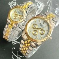 DISKON MURAH! jam tangan couple rolex jtr 222 silver gold