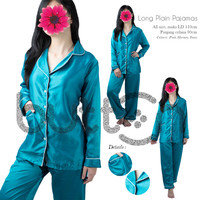 Baju Tidur Piyama Sleepwear Polos Pajamas Panjang Wanita Dewasa