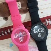 Jam tangan couple bisa tulis nama dan tanggal