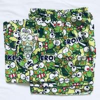 baju tidur piyama dewasa keropi/tsum celana pendek 225