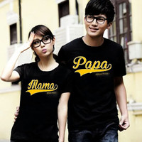 BAJU COUPLE PD PAPA MAMA GOLD