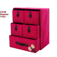 Kotak Serbaguna 5 Laci WINE RED