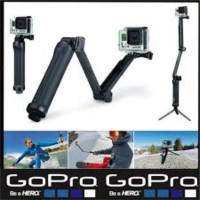 Tongsis Lipat GoPro 3 Way Grip Arm Tripod For Brica B-Pro, Action Cam
