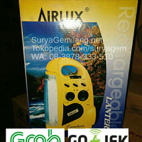 Cuci Gudang Airlux Emergency Lamp Radio Lampu Alarm Torch Senter Baru