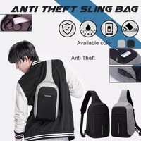 Tas Selempang Anti Maling Usb Port Charger / Smart Crossbody Bag 702