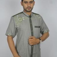 Promo Baju koko Pria Casual Busana Muslim bordir pria Kode AD 132 Ab