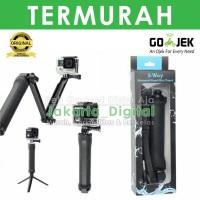 Jakarta Digital MONOPOD 3 WAY TONGSIS Untuk Action Cam gopro dll