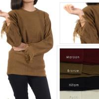 sweater rajut wanita modis roundhand fringe baju atasan cewe blouse