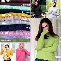 sweater rajut wanita roundhand finger baju atasan cewe blouse modis