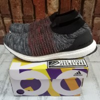 SEPATU ADIDAS ULTRABOOST LACELESS BLACK GREY UNAUTHORIZED AUTHENTIC