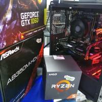 PC CPU RAKITAN GAMING EDITING RYZEN 5 1500X GTX 1060 6GB LED 22 FUL HD