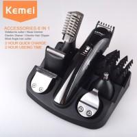 Kemei Alat Cukur Elektrik 6 in 1 Hair Trimmer Shaver - KM-600