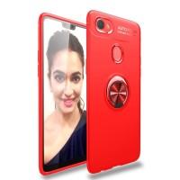 Casing Case Autofocus Softcase Magnetic Ring Oppo F7 - Merah