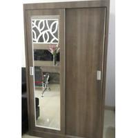 SALLE-Lemari pakaian HPL 2 pintu sliding