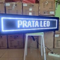 Running text Putih 20x100cm Outdoor WIFI / Lampu Berjalan LED Display