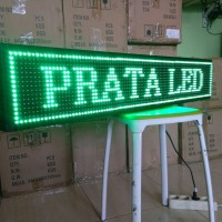 Running text Hijau20x100cm Outdoor WIFI / Lampu Berjalan /LED Display
