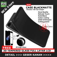 PROMO [ Black Matte + 3D T. Glass] Case Zenfone 5 LITE Asus ZC600KL