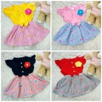 Dress bow lily flower baju bayi anak