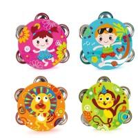 Mainan Baby Bell Hand Music Toys bentuk Tamborin Rattle Bells