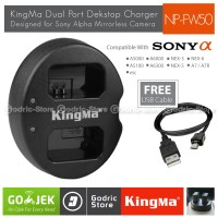 Kingma Charger NP-FW50 for Sony Alpha A7R A5000 A5100 A6000 A6300 NEX